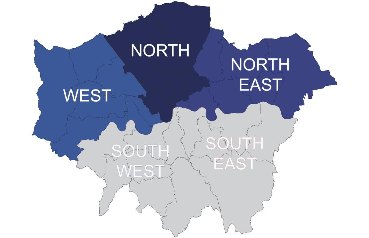 London Map North South East West.Auto Locksmith North London Autolocksmithn Twitter
