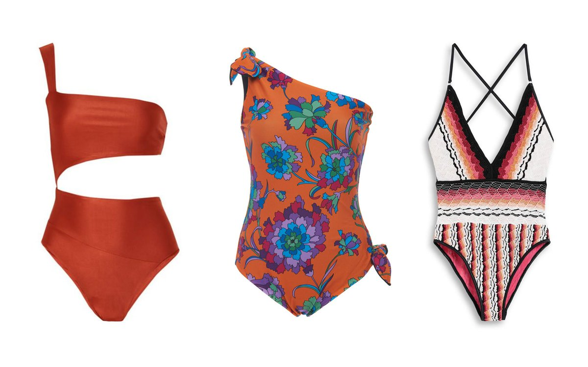 90fc90d01c 20 flattering swimsuits and bikinis for hot summer days - from gorgeous  rust tones to emerald green bathing suits ...
