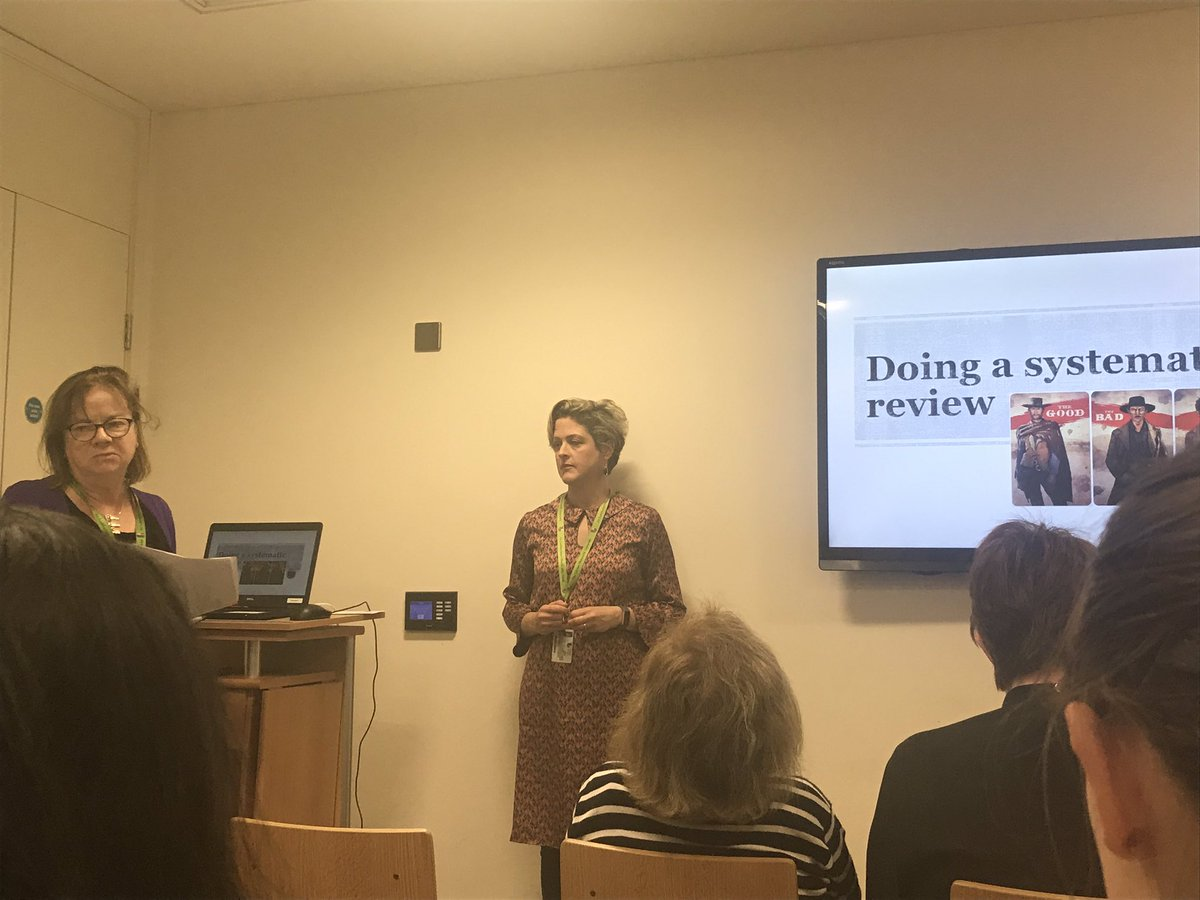 From my own team, Helen Farrell, Academic Engagement Librarian, @consultantlibra talks about working on a systematic review - the good, the bad & the ugly! #MUYearInReview @library_MU