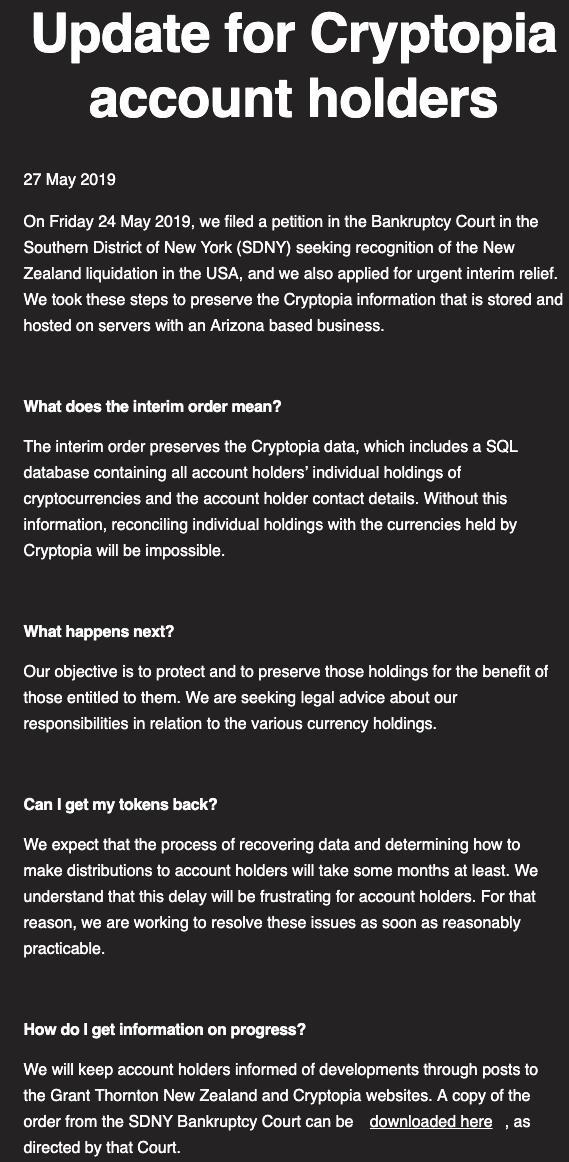 Hashtag #cryptopia sur Twitter