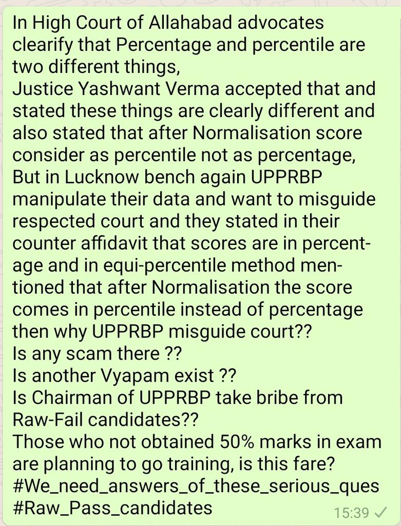 We nedd answers, Is any scam exis in UPPRBP #UPSI2016 Who is eligible candidate who follow advertisment and notification of Board and get 50% in each section or who are failed to get 50% marks in initial stage?? #We_Want_Justice  @dgpup @UPGovt @myogiadityanath @ANINewsUP<br>http://pic.twitter.com/fzkSzegIyf