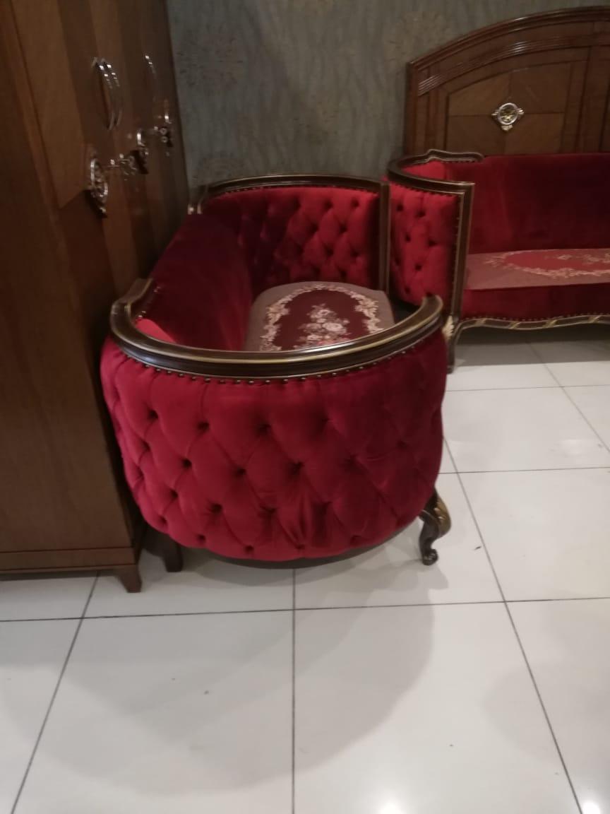 home interior design red sofa