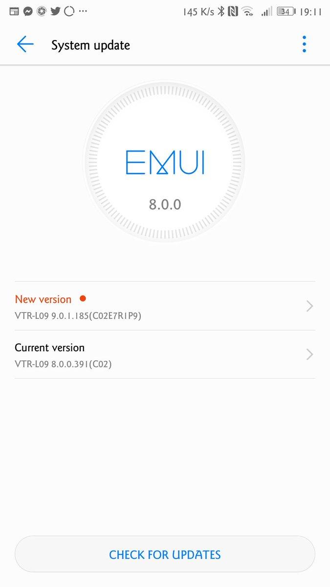 aggiornamento android 9 honor 10