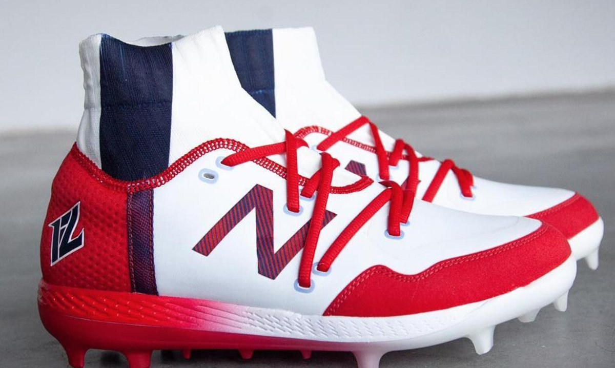 4c97b2be2 ... into his shoes — a custom job by New Balance.