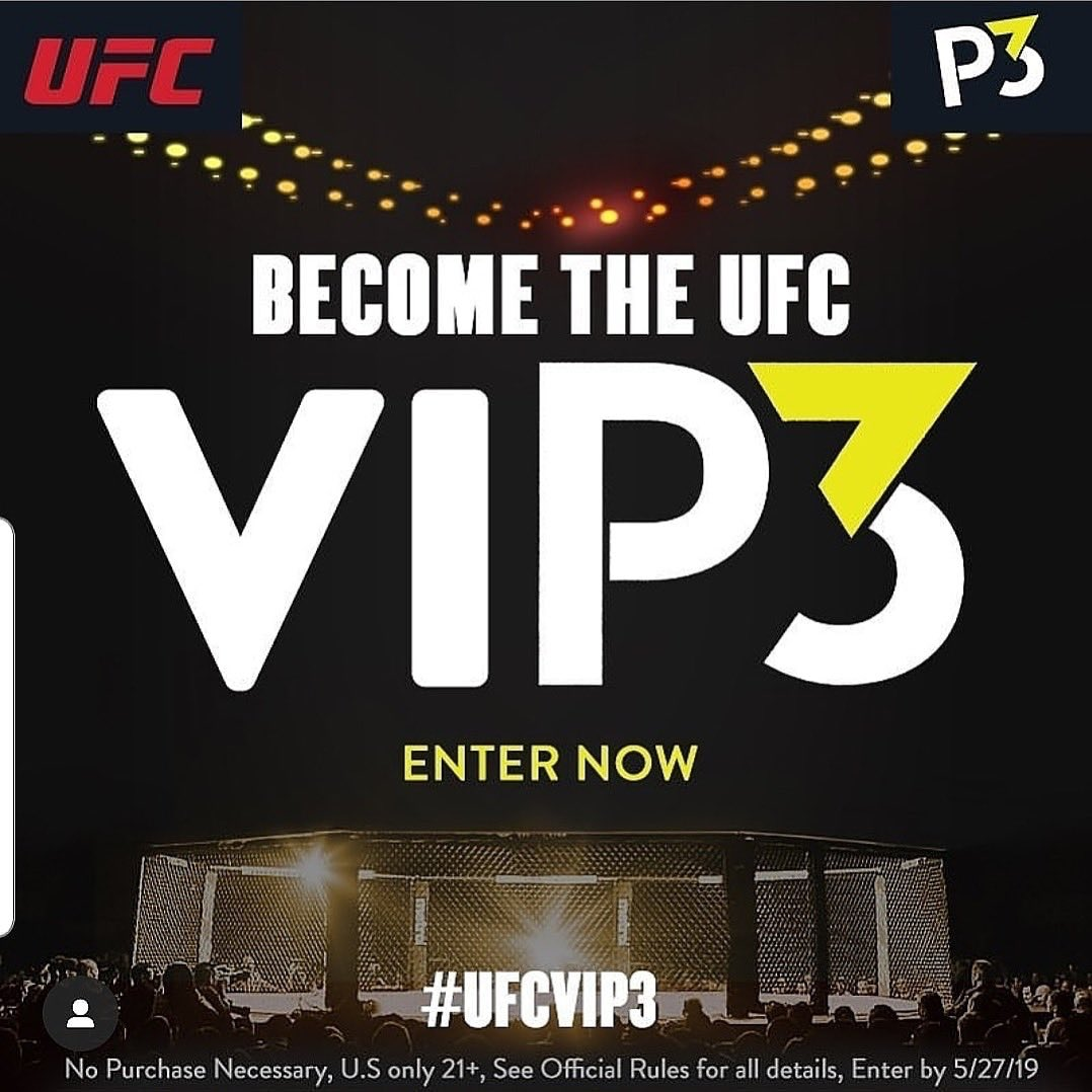 #UFCVIP3 @p3 https://t.co/L4hSRmB4aC