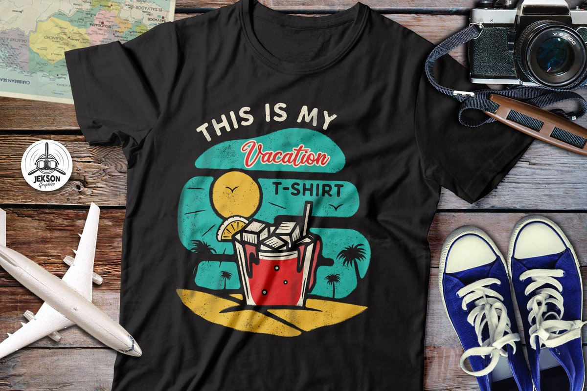 3fa2cfae New #vacation T-Shirt on #merchbyamazon Summer retro design. Order here ->  https://www.amazon.com/dp/B07SGS1326 #jeksongraphics #amazon #vacationmode  ...
