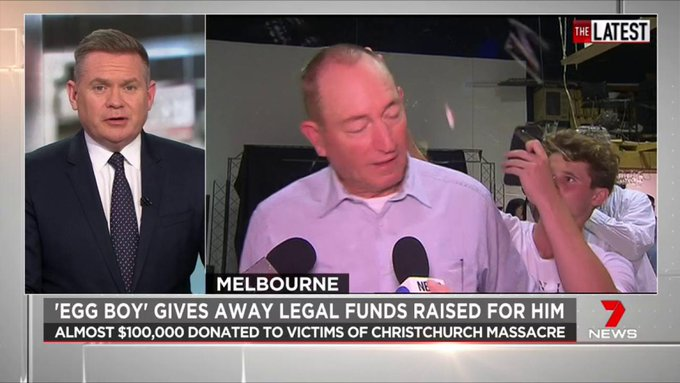 Egg Boy donates nearly $100,000 to christchurch mosque victims