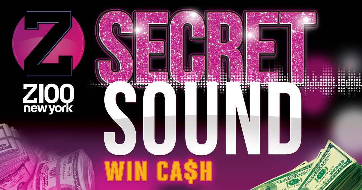 The #Z100SecretSound is back! 🤫🔊 Your chance to win AT LEAST $1,000 weekdays at 7:10am, 11am, 2pm, 4pm, 5pm, 6pm, & 7pm!! 💸💸💸  Listen to the sound here: http://ihr.fm/2K18WUo