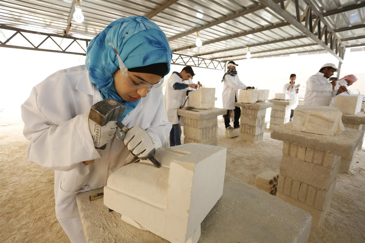 test Twitter Media - A @WorldMonuments & #CulturalProtectionFund training scheme teaches Syrian refugees traditional stonemasonry skills, which could be used in the future reconstruction of heritage sites destroyed by the conflict in Syria. @bettanyhughes meets the trainees: https://t.co/DH1mCX4mn3 https://t.co/IC042GrAtF