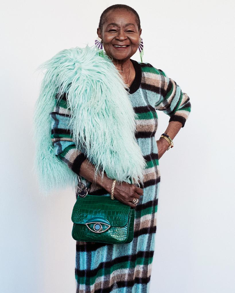 The feminist pioneer and Caribbean icon Calypso Rose in full KENZO including the new #KENZOTALI bag for @lofficielparis. Find out more: http://spr.ly/6010EYNAg