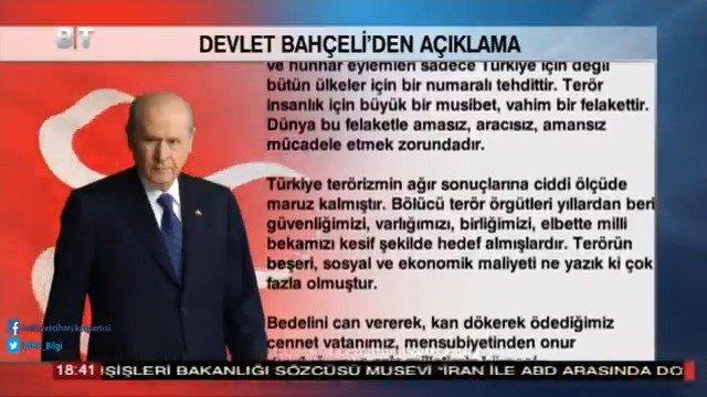 """MHP, """"Pençe Operasyonu""""nu önşartsız desteklemektedir. Duamız Türk Silahlı Kuvvetleri'mizin kahraman askerleri üzerinedir."""