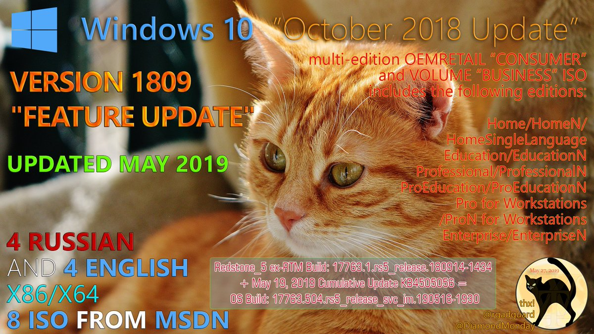 Untouched - Windows 10, Version 1809 (May 2019) [17763 504] MSDN by