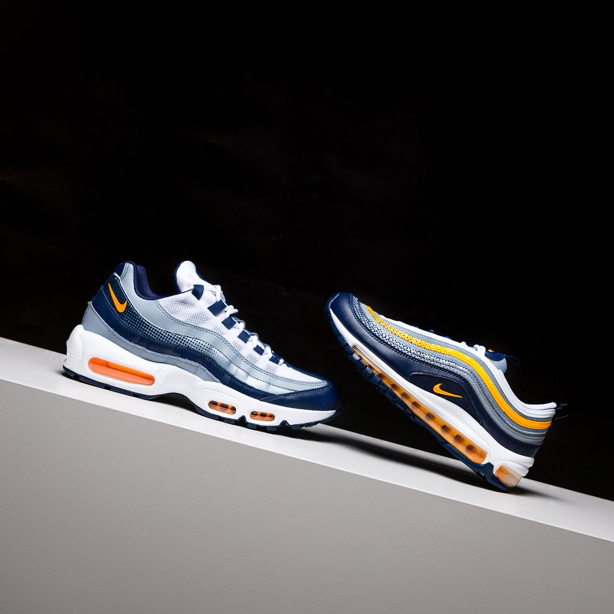 febf1740eb Air Max 97 in Grade school sizes and Air Max 95 in men's and grade school  sizes available at all Kicks Lounge locations 5/30. #nikepic.twitter.com/  ...