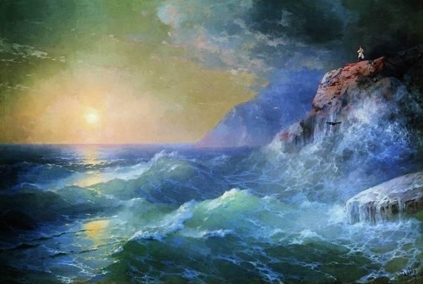 Russian painter Ivan Konstantinovich Aivazovsky (1817-1900)