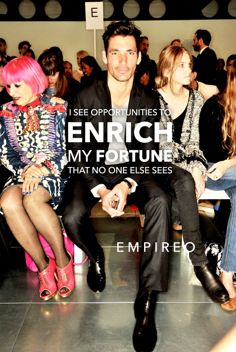 """I see opportunities to #ENRICH my #FORTUNE that no one else sees.  """"QUANTUM LEAP TO MILLIONAIRE""""💰💎 ▶️ I want to know more about the program https://empireoquantumleap.com/  #MILLIONAIREMINDSET #ENRICHYOURLIFE"""