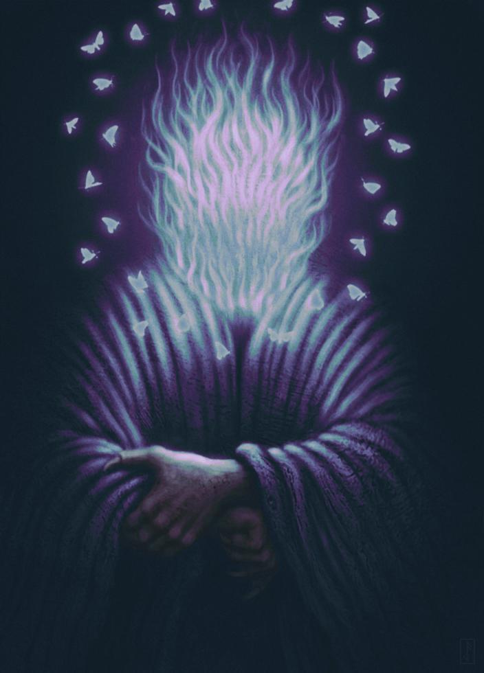 Fantasy Purple Moth Art
