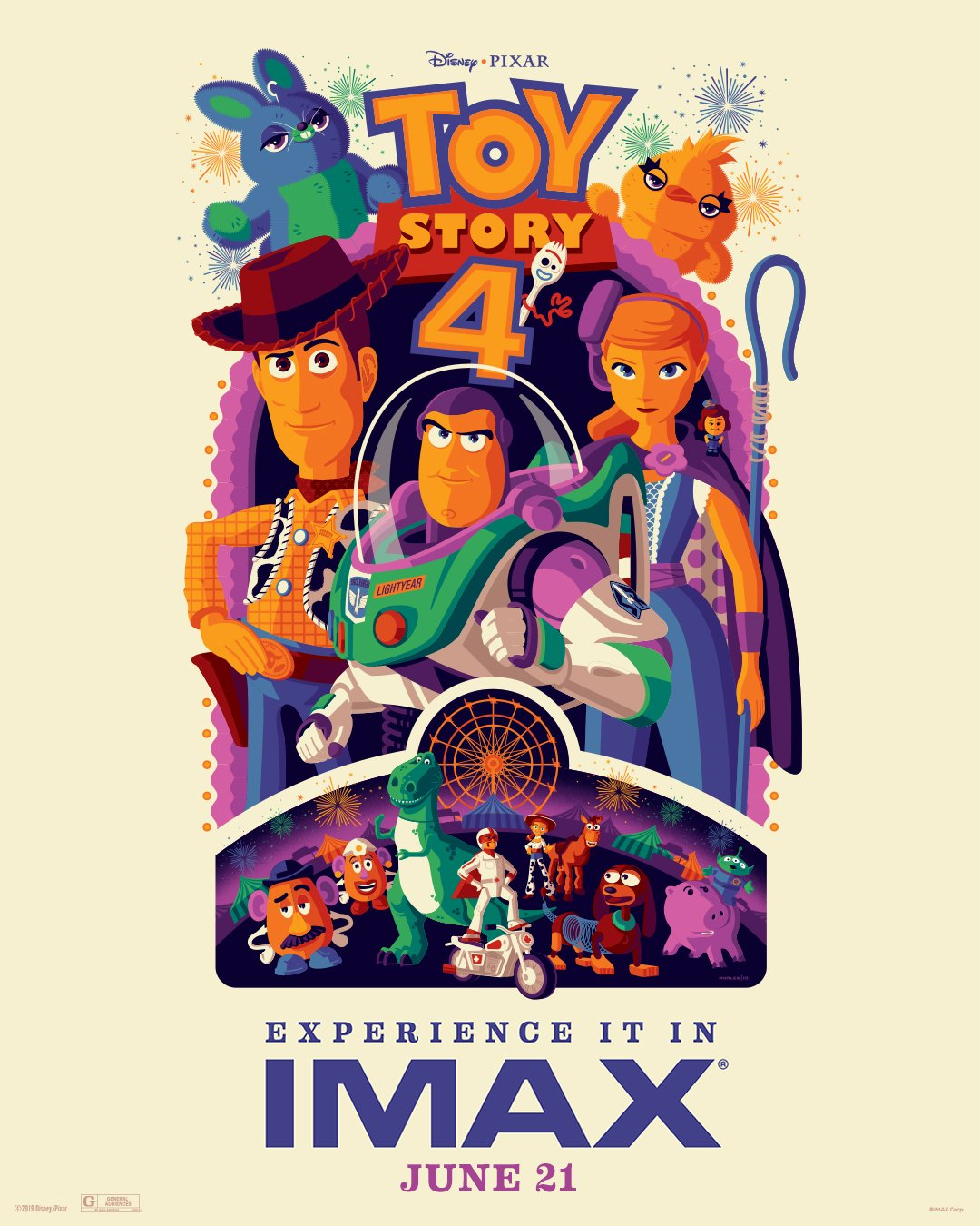 cf8d3e1a32 ... a good three weeks before the film's wide release, and IMAX has also  unveiled a new poster which spotlights the movie's array of colorful  characters: