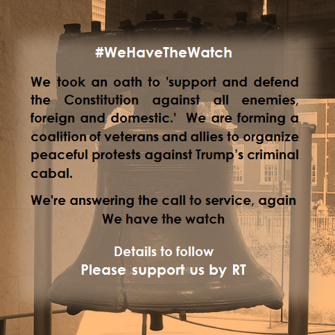 Please meet my new friends with #WeHaveTheWatch, and do give an important follow to @Revivedemocrac1 with @F4CrewChick and @carpethefish.  A Veteran-led group to uphold the rule of law, defend the Constitution and stop the Trump Regime.    LIKE=Support,  RT= Join Us<br>http://pic.twitter.com/ipx7F1MMx3