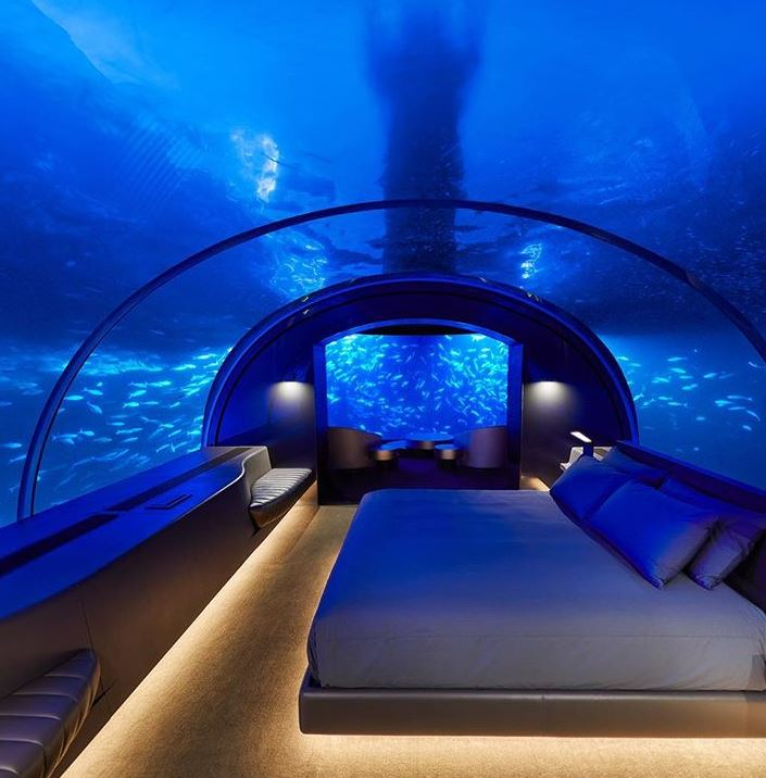 2018 Hilton opened the world's first underwater hotel suite at the Conrad Maldives Rangali Island #hilton100 @hiltonnewsroom @Hilton @Hiltonhonors @conrad_maldives https://t.co/kWoL4UhMi4