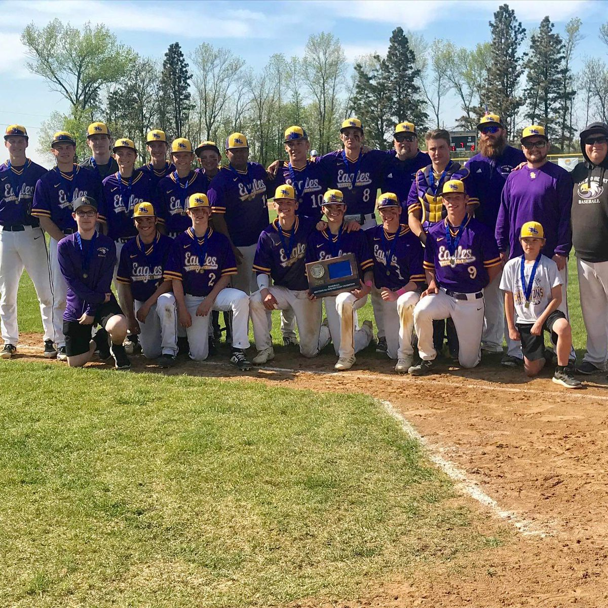 Congrats SHS baseball! West Subsection 8A Champions!!! The Eagles play Thursday in TRF! #mySHS #SeizethisMoment 🦅