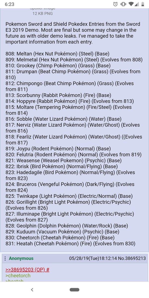 Pokemon Sword Shield Leaks On Twitter Pt 1 Hugeee Leak Just
