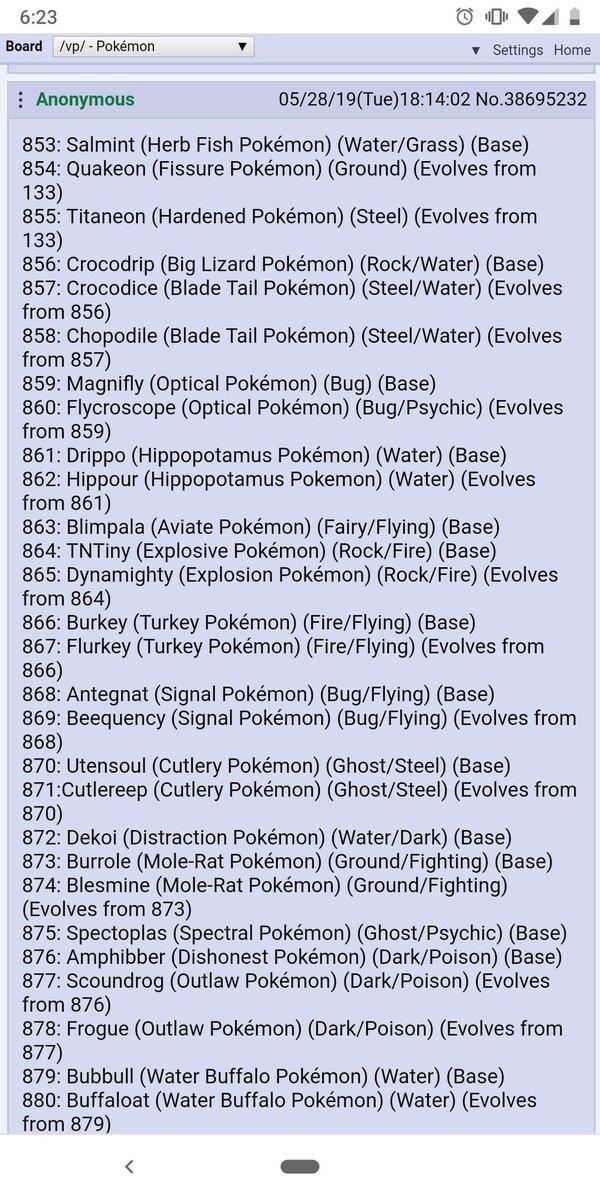 Pokemon Sword/Shield Leaks on Twitter: