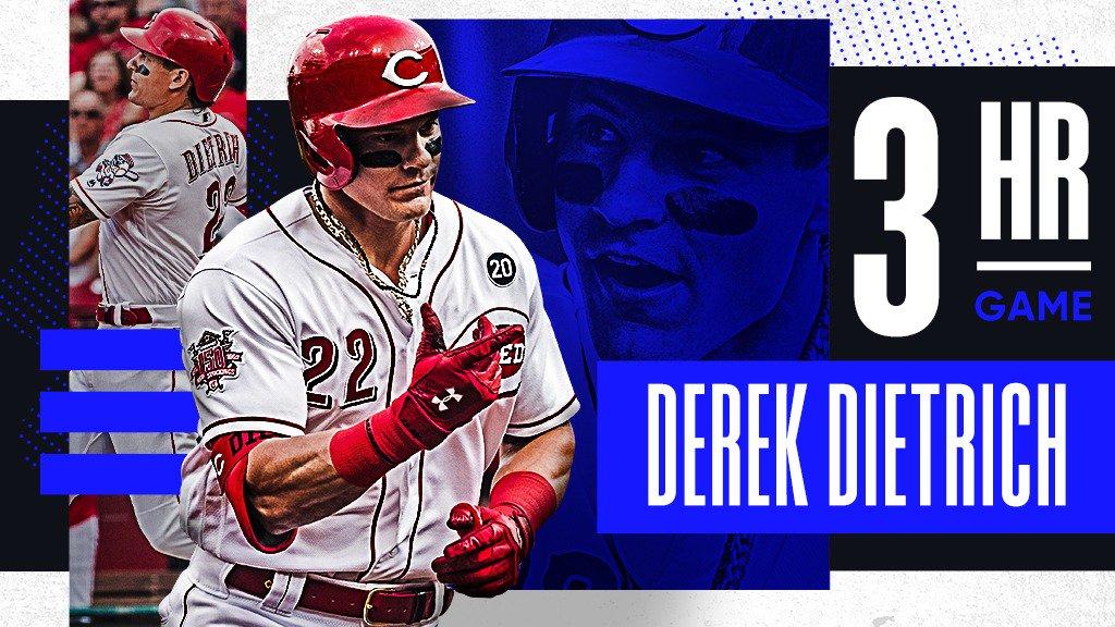 Derek Dietrich's last 6 hits:  HR HR HR HR HR HR