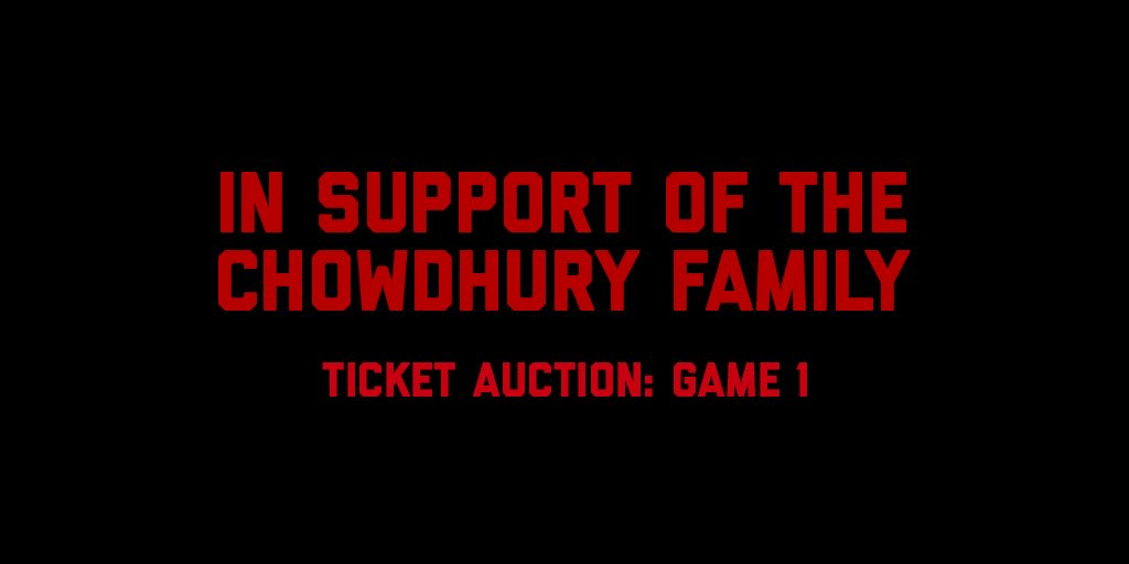 In support of Ruhul Chowdhury, an employee of MLSE whose four-year-old son, Radiul Chowdhury, was tragically hit by a motorcycle, we'll be auctioning off a pair of tix to GM1 of the @NBA Finals w/ all proceeds being directly donated to the family.  Bid: https://t.co/NO6GwUq4sK https://t.co/HUbMtBAY8Q
