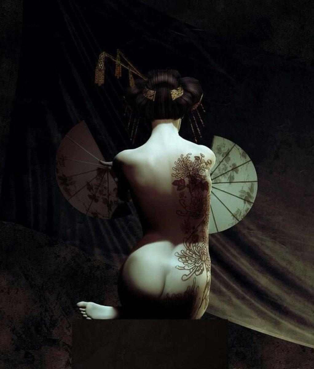 Adults Only Mature Content Courtesan Geisha Art Japanese