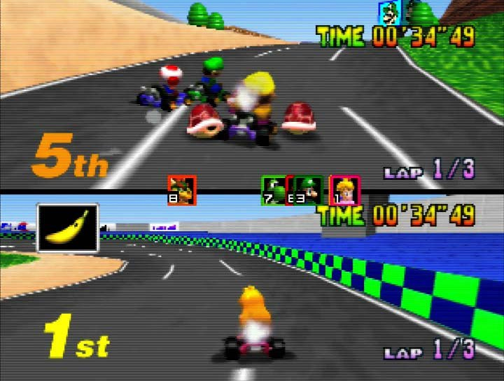 N64 Today On Twitter Question Time In Two Player Mario Kart 64