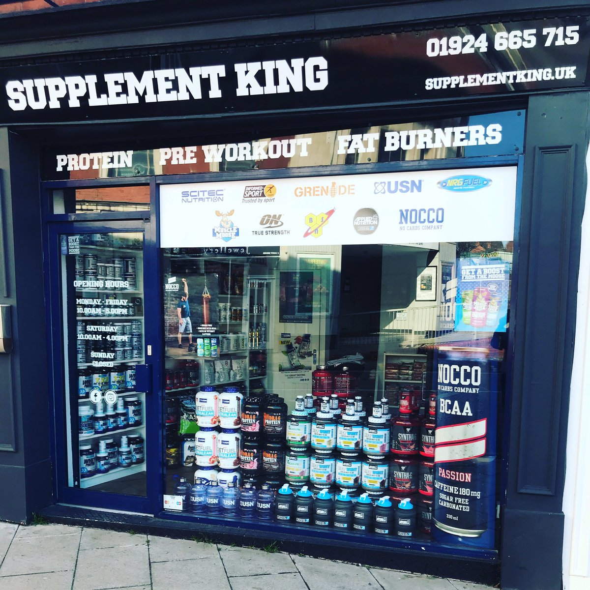 We are open 11-5 today or if you cannot make it in store take a look at our #website SupplementKing.uk #free local same day delivery
