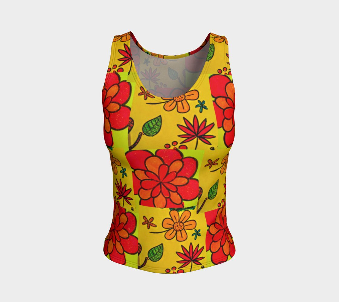 3bff1b53 Excited to share the latest addition to my #etsy shop: yellow floral tank  top #clothing #women #tank #tanktop #feminine #yellow #etsyfashion #flowers  #style ...