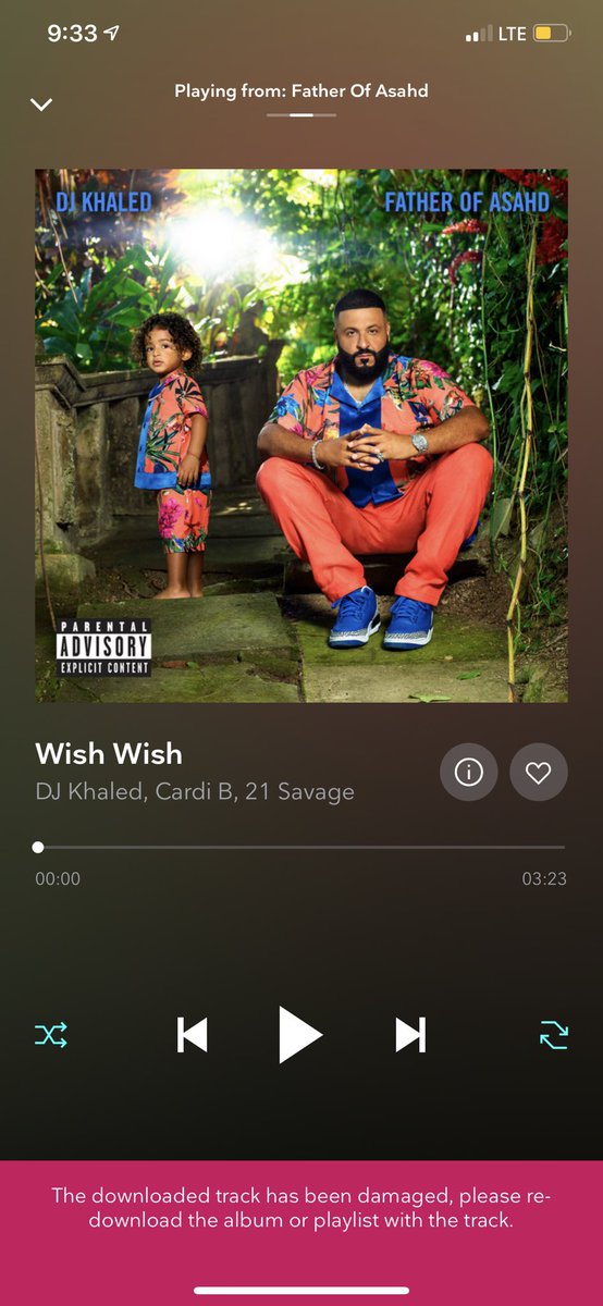 Um my morning anthem won't play on @TIDAL wtf #wishwish @iamcardib @djkhaled I need answers! 😤