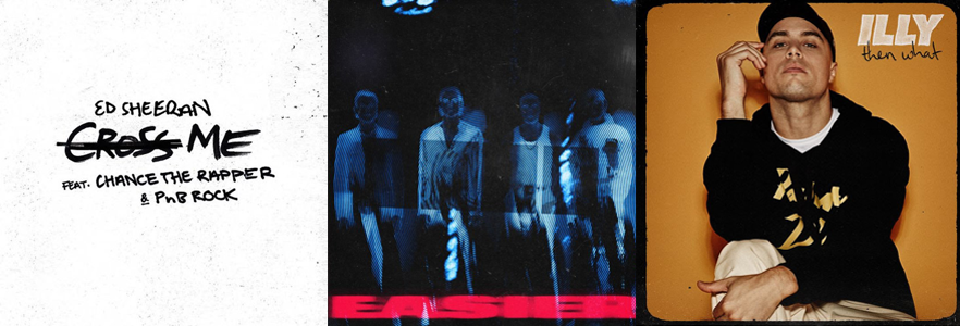 Some massive tunes dropped last Friday 📻🎵 But how many spins have they received so far? 1  @edsheeran @chancetherapper @pnbrock - #CrossMe 451 spins 2  @5SOS - #EASIER 291 spins 3  @illyal - #ThenWhat 192 spins