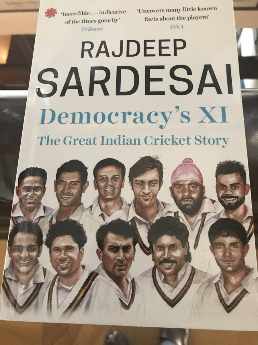All set for the World Cup: delighted that @juggernautbooks has brought out a paperback edition of Democracy's XI: perfect timing! This is where you can order a copy if you haven't read the Great Indian cricket story yet! https://www.amazon.in/dp/9353450209/ref=cm_sw_r_wa_api_i_9A36CbYC0PQTT …