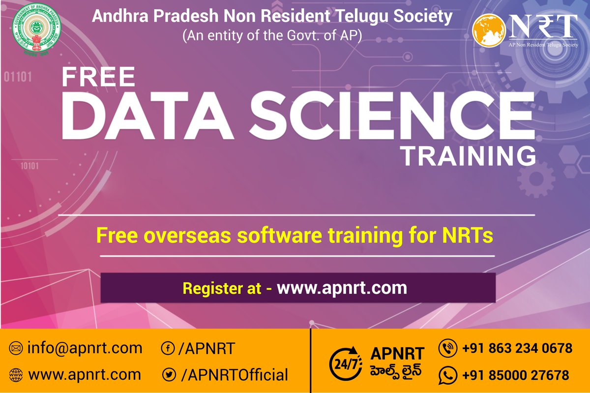 APNRT offers Free Data Science training along with certification for