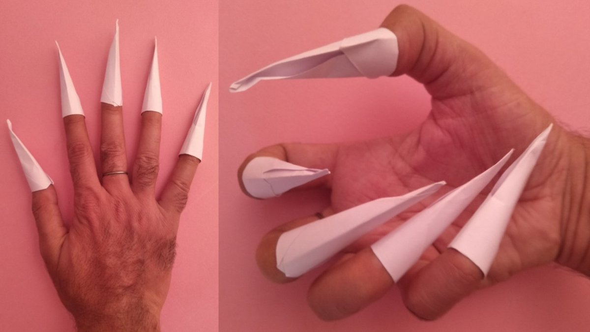 Easy Origami Witches' Claws Folding Instructions | 675x1200