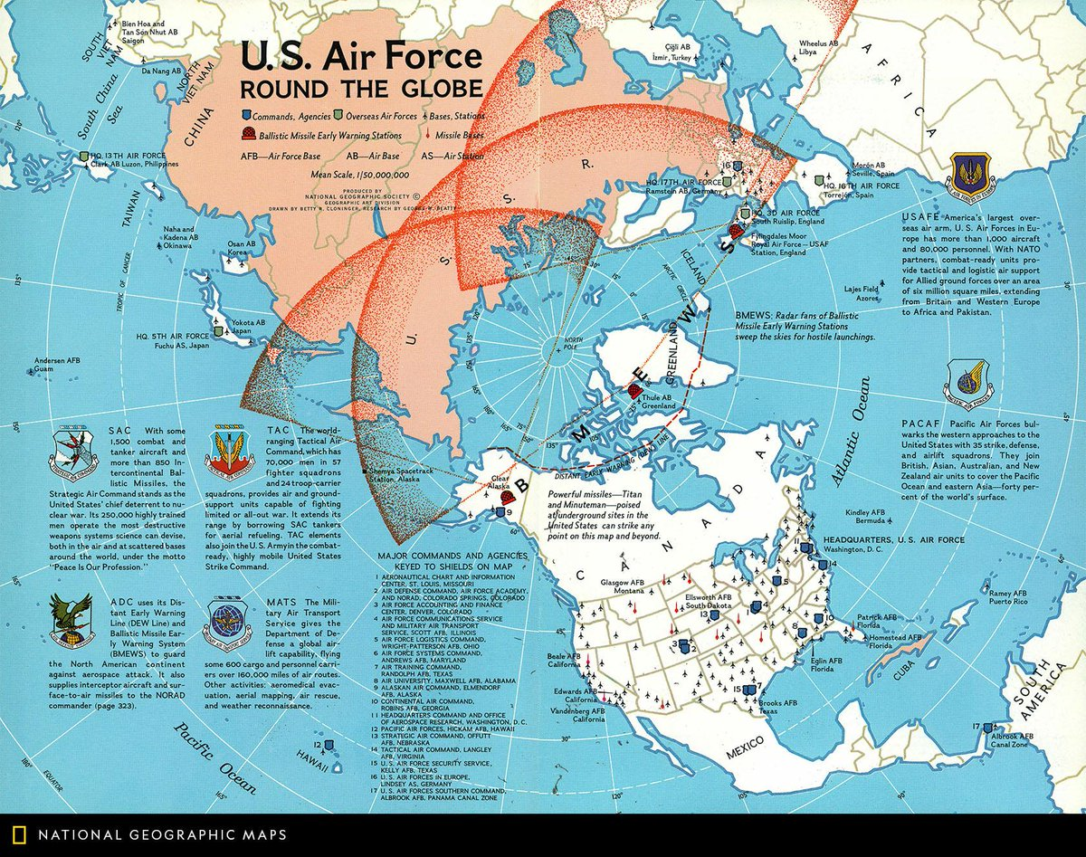 Natgeomaps On Twitter Map Of The Day Published In September 1965 - Map-of-air-force-bases-in-us