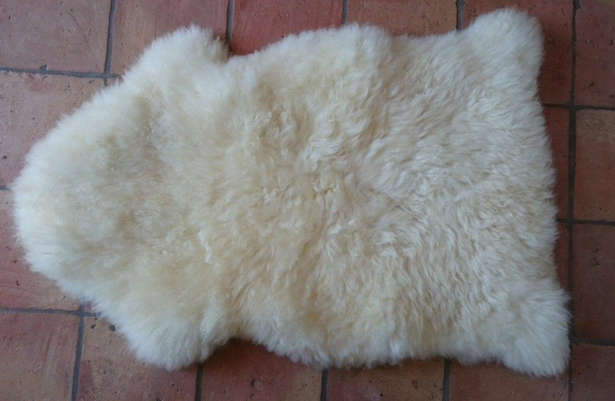 Het is trouwens prima gelukt, wassen en borstelen van de vieze #schapenvacht! 😀