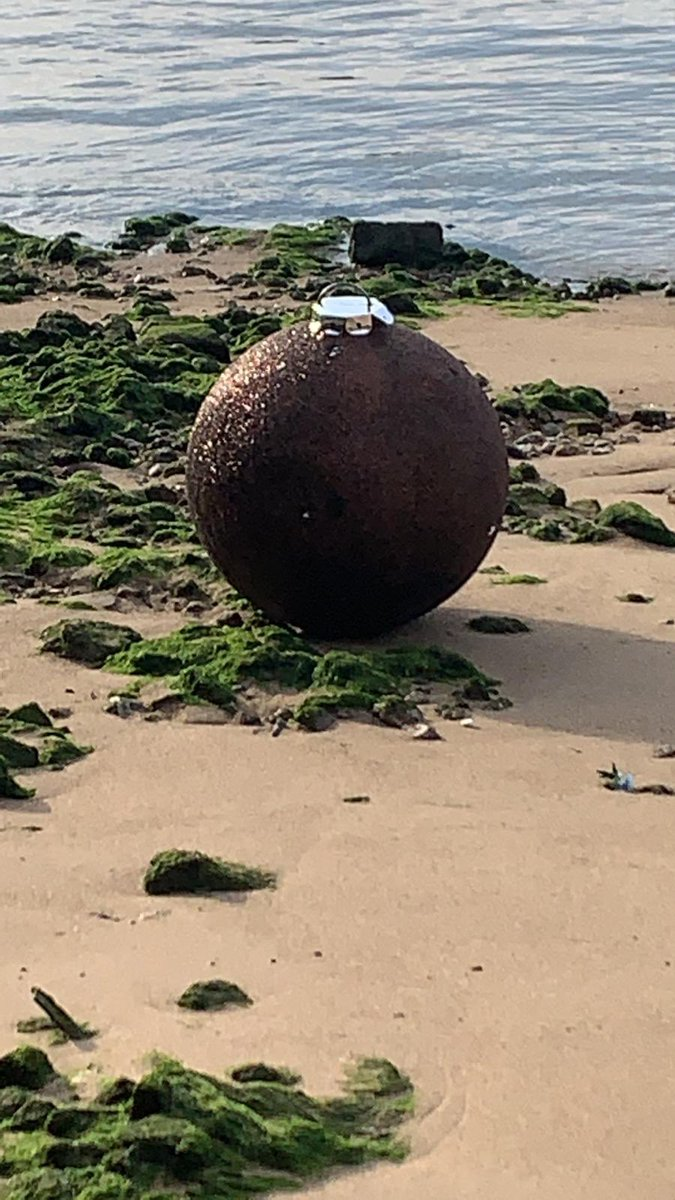 Suspected unexploded bomb is actually just an enormous glittery bauble