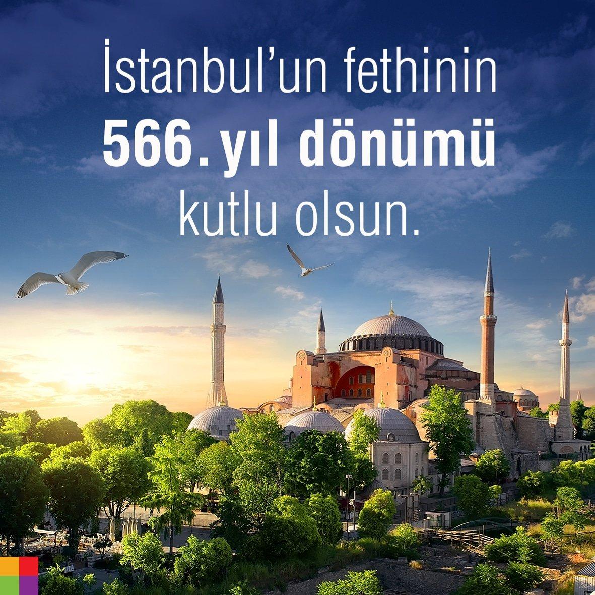 İstanbul'un fethinin 566. yıl dönümü kutlu olsun. #istanbulunfethi #istanbul #agrafikdizayn #reklamajansı #29mayıs1453 #1453 https://t.co/IrwE9dwZ85