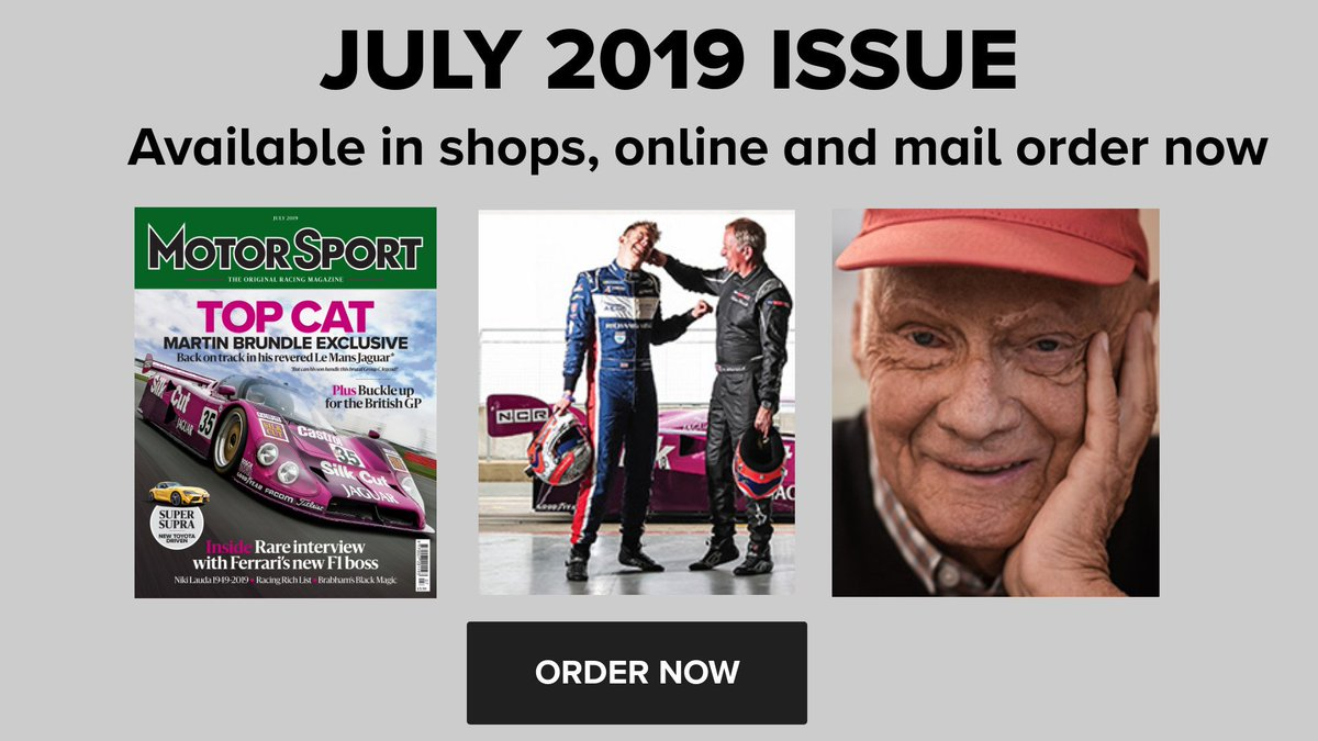 Featuring our exclusive lead story on Martin Brundle being reunited with his Jaguar XJR-12, an extract from Gordon Murray's new book, and our tribute to the phenomenal driver that was Niki Lauda.  Preview the issue here: http://bit.ly/2X9h1u9