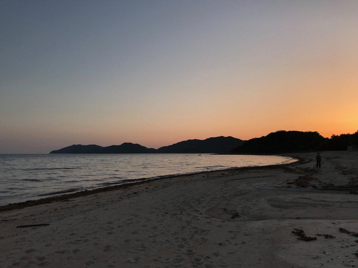 光市虹ヶ浜の綺麗な夕焼け https://t.co/f1eYX5TY5b