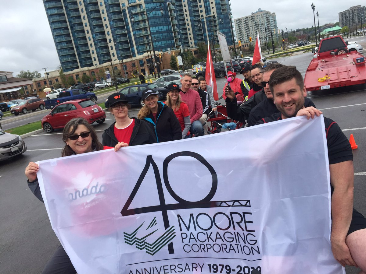 Another fun year with our team raising money in support of the Heart and Stroke Foundation of Canada!  #moorepackaging #community #heartandstrokefoundationofcanada #heartandstrokebigbike #givingback #teammoore