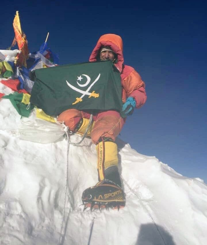 The only #Pakistani mountaineer to have climbed seven peaks of over 8,000 metres in the world, Mohammad Ali #Sadpara of #Skardu, climbed 8,485-metre #Makalu peak on 24 May in #Nepal, the fifth highest mountain in the world. #Pakistan