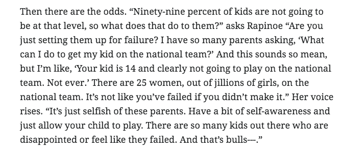 As a parent, @mPinoe comments particularly resonated (she didn't hold back):