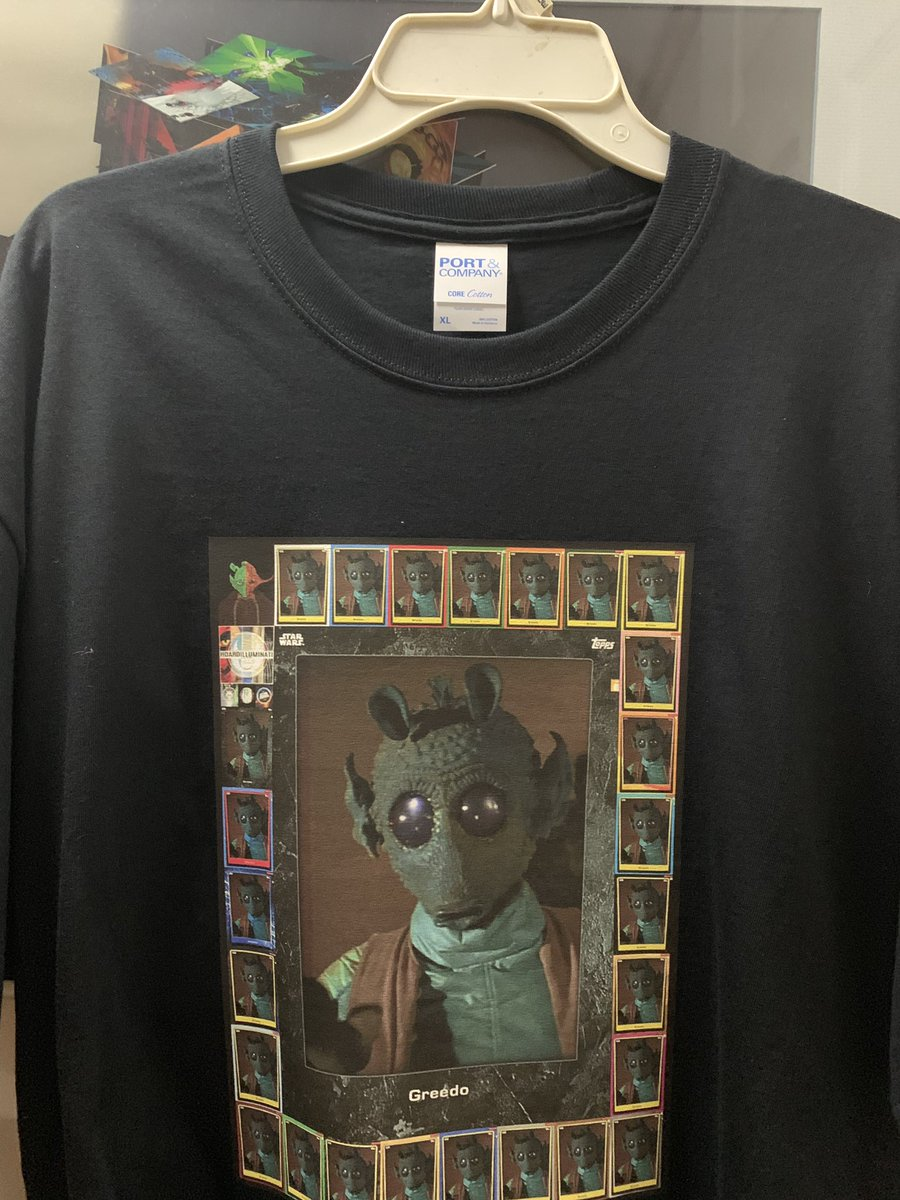 @hoardcast @ToppsSWCT @ToppsDigital I did a thing....GREEDO Rainbow..., GREEDO Monument..., GREEDO 1sc (Shirt Count)....  Thank You all who help me get there.  Most fun I have had in Star Wars Card Trader!