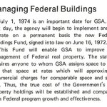Happy Birthday to the Federal Buildings Fund! It was started by GSA in 1972 as a revolving fund to construct, maintain, operate, & renovate federal buildings. Revenues in the fund come from the rental income paid to GSA by other federal tenants! #FedBldgFridays #GSAat70