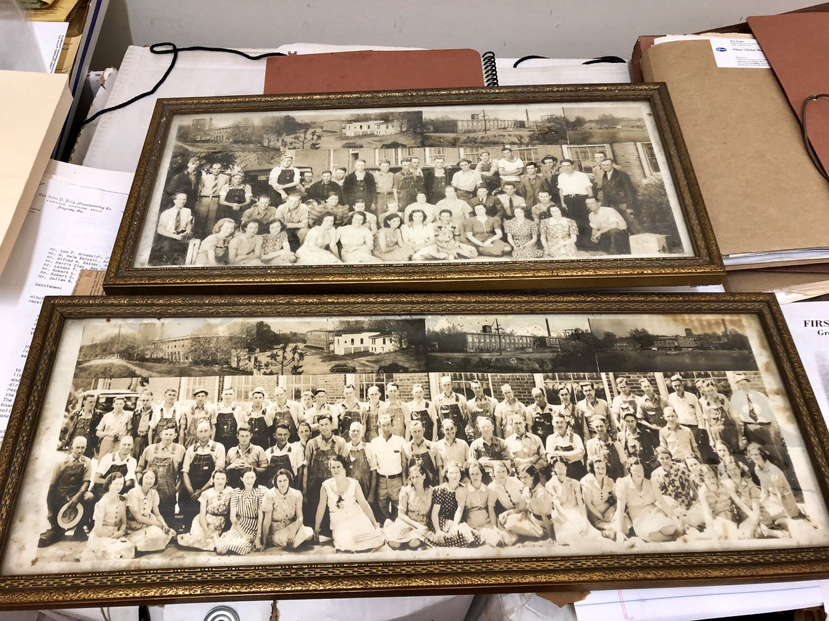 Early morning lesson from our friends at the @augustamuseum on how to preserve old photos given to the #AugustaCanal. We are thinking this is Sutherland Mill, 1930-40s? Any insight would be helpful. No labeling or paperwork. #nationalheritagearea #textilemills #loveaugustapic.twitter.com/XcgszvEUsM