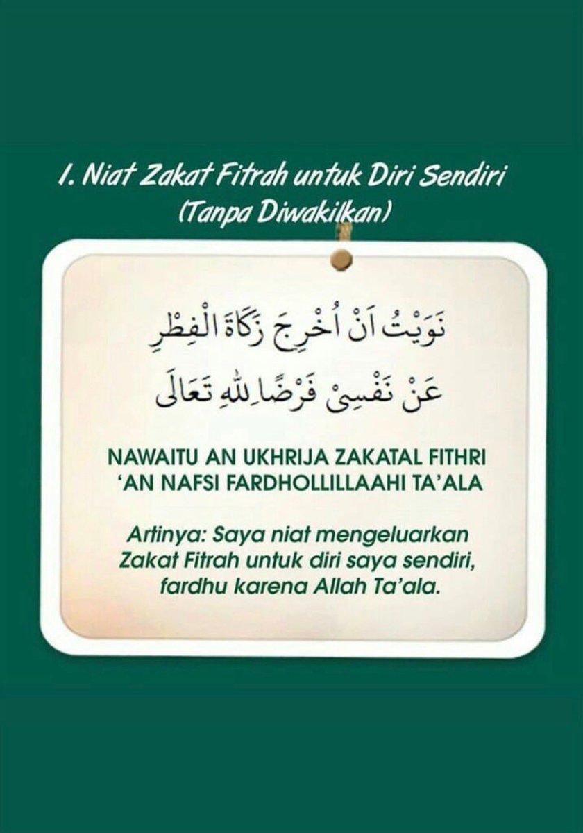 Macam2 Niat Zakat Fitrah #ZakatFitrah (No 1)